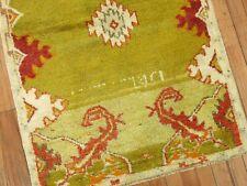 Vintage Unique Turkish Oushak Rug Size 2'7''x4'3''