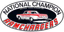 RAMCHARGERS NATIONAL CHAMPION DRAG RACE HOT ROD DECAL STICKER