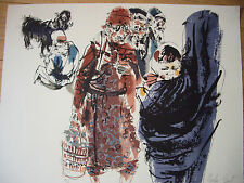 Moshe Gat - Origina Hand Signed and Numbered Lithograph - Untitled