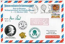 1983 Ballonpost Pro Juvent. Aerostato Arc Et Senans CENTRE DU FUTUR Liesle Doubs