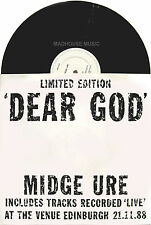 "ULTRAVOX 12"" Midge Ure - Dear God + LIVE 1988 Music #1 Flying Brzezicki Bros NEW"