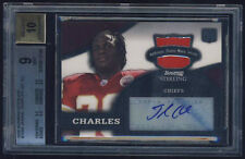 2008 Bowman Sterling Jersey Auto rc Jamaal Charles BGS 9 Mint