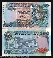MALAYSIA 50 RINGGIT P23 1983 KING DEER RAHMAN UNC MONEY BILL CURRENCY BANK NOTE