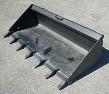 "Bobcat Case CAT Skid Steer Attachment 74"" Low Profile Tooth Bucket - Ship $199"