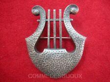 """Broche """"Lyre"""" Cordes Pincées Antiquité Inspiration Muse - Bijoux pur Collection"""