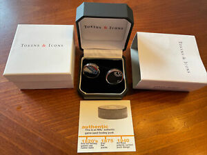 New York Rangers Game Used puck cufflinks Tokens & Icons