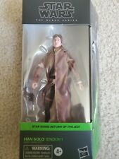 """Star Wars The Black Series Han Solo Endor Trenchcoat 6"""" In Hand!!"""