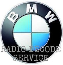 BMW RADIO STEREO HEAD UNIT CD PLAYER DECODE - CODE RETRIEVAL UNLOCK SERVICE