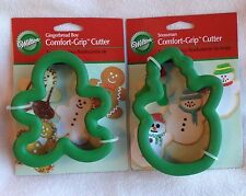 Wilton Comfort Grip Cookie Cutters Snowman Gingerbread Man Christmas Winter Snow