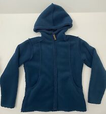 New listing NorthCrest Hooded Sherpa Style Jacket Coat Women's Size SMALL 6/8 Blue Zip Up
