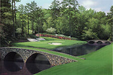 """Matted Augusta National golf print """"12th Hole"""" MASTERS - 11 x 14 - free shipping"""