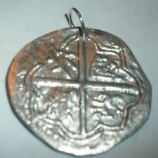 SHIPWRECK COIN PENDANT COB PIECE OF EIGHT COBBO DE BARRO  FREE SHIP