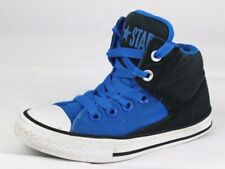 3859219f923f Converse youth kids all star girls blue canvas hi top sneakers size 13