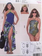 Burda Sewing Pattern 6963 Ladies Misses Beach Swimsuit Size 8-18 Uncut