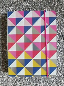 Geometric Pattern Note Pad. Paperchase.A6 Size.new. Pink Blue Silver Red