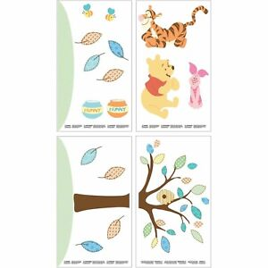 2 Pack Disney Baby Pooh and Friends Removable Wall Decals New!