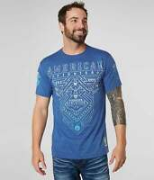American Fighter by Affliction Short Sleeve T-Shirt Mens PALMDALE Blue