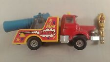 Corgi 1163 - BERLIET HUMAN CANNON TRUCK Jean Richard Circus with man