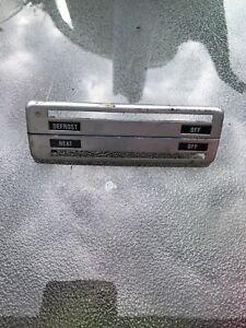 BMW 2002 klima blende defrost heat off oldtimer bedienteil Chrom