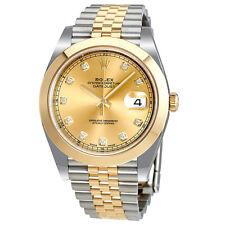 Rolex Datejust 41 Champagne Diamond Dial 18K Yellow Gold Mens Watch 126303CDJ