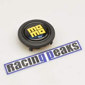 MOMO glossy black steering wheel horn button racing tuning 59mm