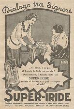 W1113 SUPER-IRIDE - Tinta per tessuti - Pubblicità 1926 - Vintage Advert