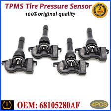 4PCS 68252493AB TPMS Tire Pressure Sensor Monitor For Dodge Dart Jeep Chrysle