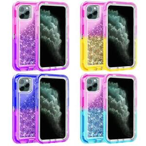 Full Body Shockproof Protective Quicksand Hard Case For iPhone Fit Otterbox Clip