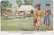 Garden Fete, Tuck no. 53 Comic Art Postcard, B717