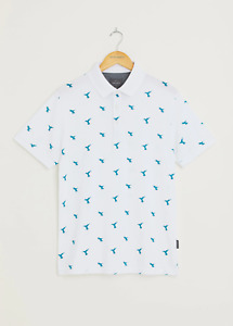 Peter Werth New Mens Humdinger Polo Shirt - White
