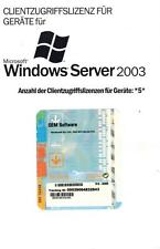 MS Windows 2003 Server 5 Device CAL deutsch (Geräte) für Server 2003 R1+R2