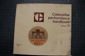 CAT Caterpillar 1981 Performance Handbook Edition 11 Manual specifications book