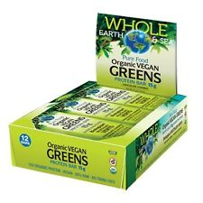 Whole Earth & Sea Pure Food Organic Vegan Greens Protein Bar - BOX OF 12 BARS