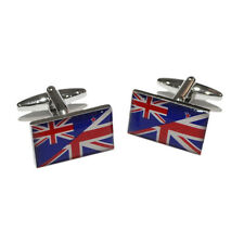 Union Jack Mixed with New Zealand Flag Pom Maori KIWI CUFFLINKS Present GIFT BOX