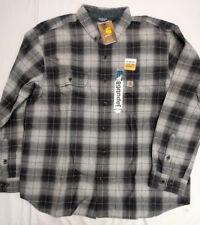 Carhartt 102828 Beartooth Plaid Flannel shirt  sz 2X BLACK [L5-2828]