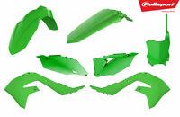 Polisport Plastic Kit Kawasaki KXF 450 KX 450F 2019 19 All Green MX
