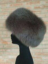 FOX FUR HAT CAPPELLO PELLICCIA  VOLPE FOURRURE chapeau PELZ renard lapin