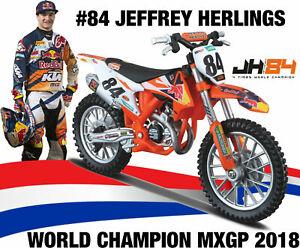 Jeffrey Herlings REDBULL KTM SXF 1:18 Die Cast Motocross Toy Model cake topper