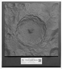 "Tycho Crater 3D Space Terrain Topographical 12.5"" Model from NASA Data"
