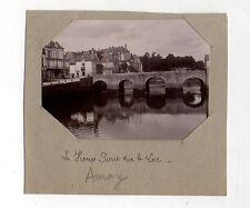 PHOTO ANCIENNE - AURAY Le vieux pont - Vers 1900 - Bretagne