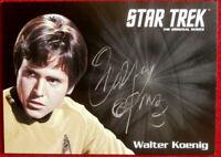 STAR TREK TOS WALTER KOENIG as Chekov, LIMITED EDITION Autograph Card
