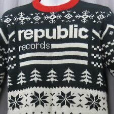 Republic Records Ugly Christmas Sweater Small Drake Ariana Grande Nicki Minaj