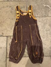 Alba Brown Cord Dungarees 9-12 Months