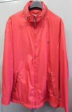 Polo Ralph Lauren Red Casual Jacket With Brown Calf Leather Trim Size 1XB