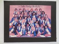 DALLAS COWBOYS CHEERLEADERS PICTURE 8.5X11 VINTAGE RETRO VTG 1989 - 1990 NFL