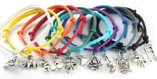 Wholesale Elegance string Cord Bracelets with charm mixed colours charms