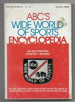 1974 ABC's Wide World of Sports Encyclopedia Paperback Book 2nd Printing