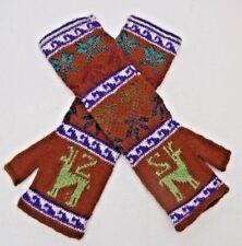 Alpaca Fingerless Wrist Warmers, Fagin Gloves  Multi Colour * Soft & Warm