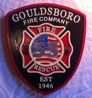 Fire Department Gouldsboro 3d routed plaque wood patch sign Custom