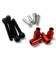 L301R 1/10 Scale Buggy Alloy Shock Damper Parts Screws Reducer Liner x 4 Red
